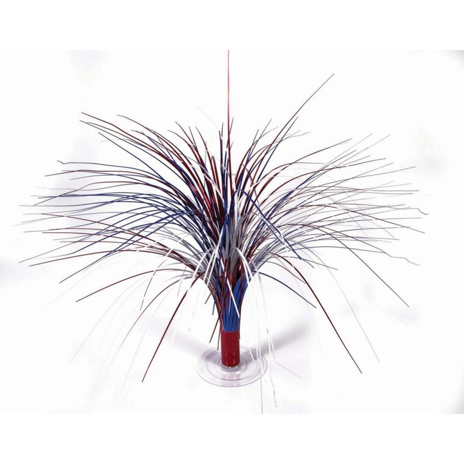 """View larger image of Red, White & Blue Holographic 18"""" Fountain Centerpiece"""