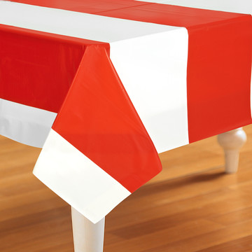 Red White Stripes Tablecover