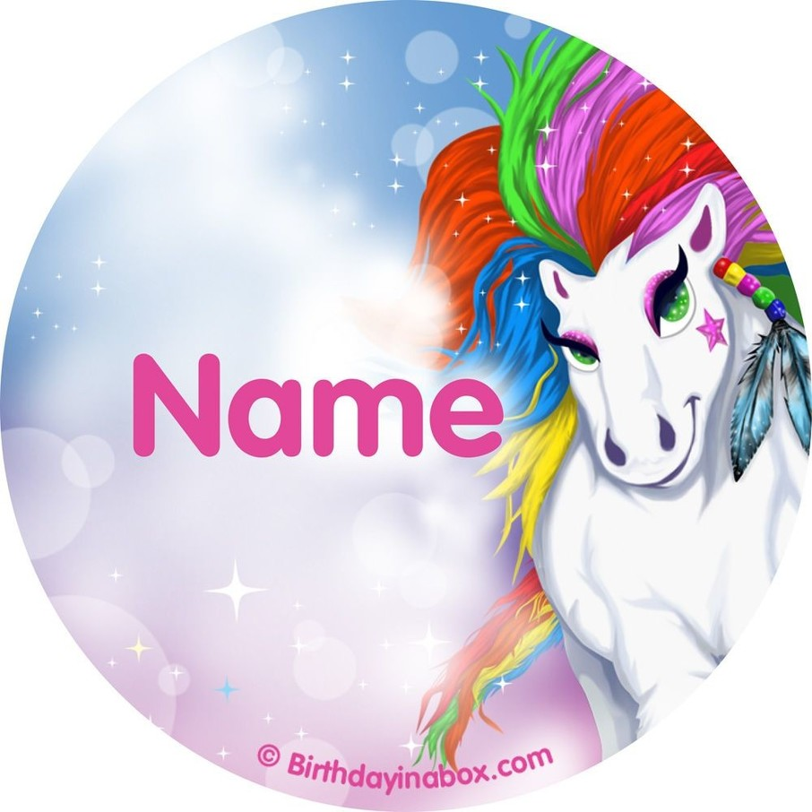 View larger image of Regal Pony Personalized Mini Stickers (Sheet of 24)