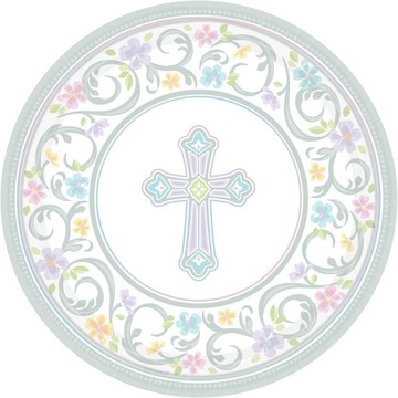 "Religious Party 10"" Luncheon Plates (18 Pack)"
