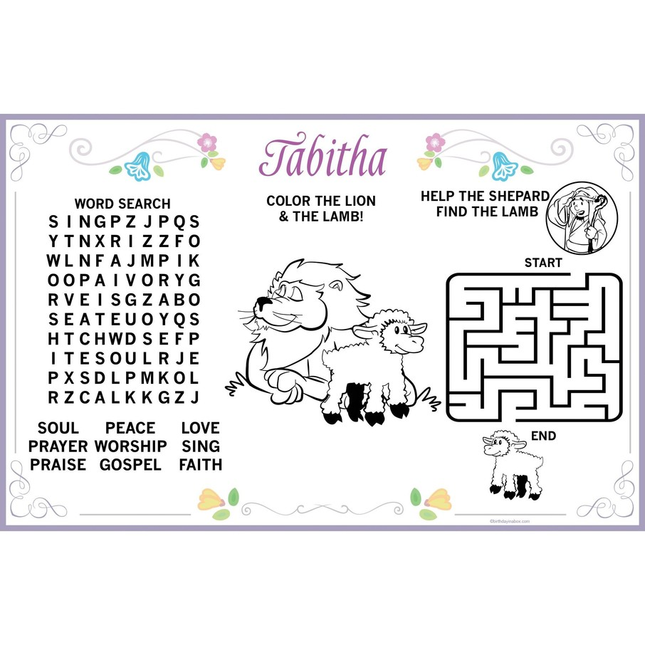 View larger image of Religious Party Personalized Activity Mat (8 Pack)
