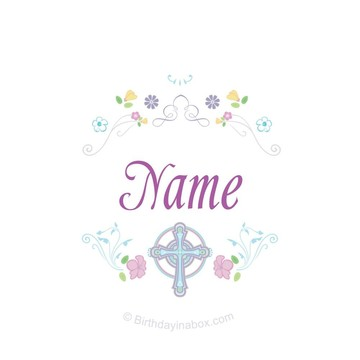 Religious Party Personalized Mini Stickers (Sheet of 24)