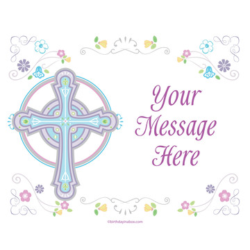 Religious Party Personalized Rectangular Stickers (Sheet of 15)