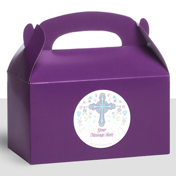 Religious Party Personalized Treat Favor Boxes (12 Count)