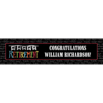 Retirement Personalized Banner (Each)