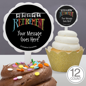 Retirement Personalized Cupcake Picks (12 Count)