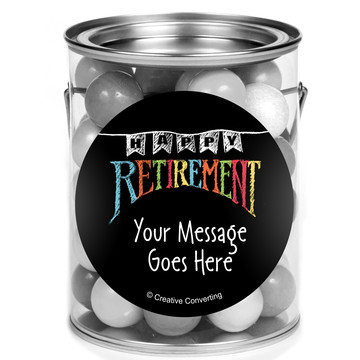 Retirement Personalized Mini Paint Cans (12 Count)