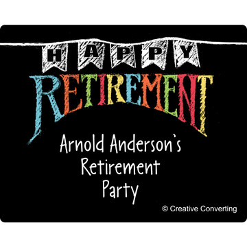 Retirement Personalized Rectangular Stickers (Sheet of 15)