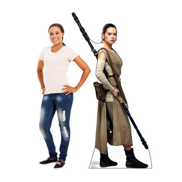 Rey (Star Wars VII: The Force Awakens) Cardboard Standup (Each)