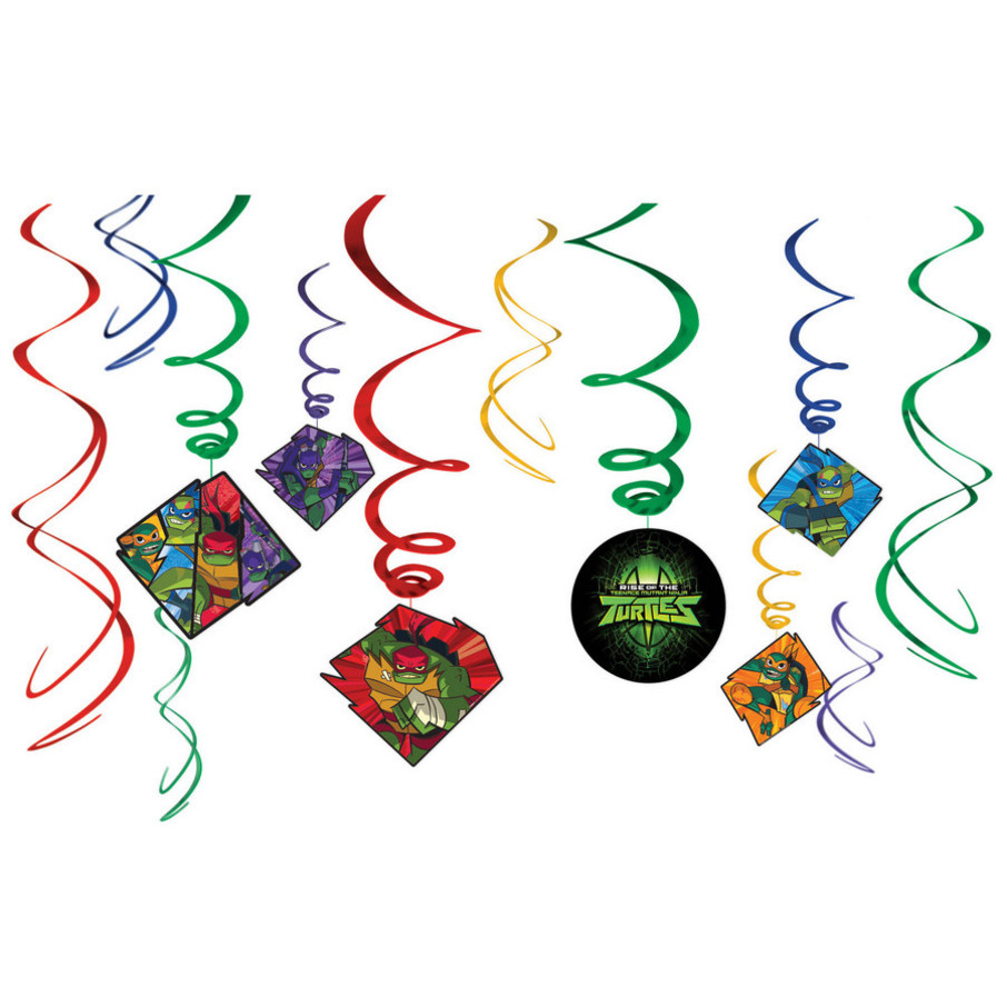 View larger image of Rise of the TMNT Hanging Swirl Decorations (12)