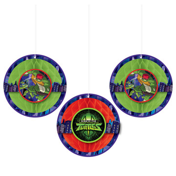 Rise of the TMNT Honeycomb Decorations (3)