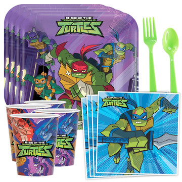 Rise of the TMNT Standard Tableware Kit (Serves 8)