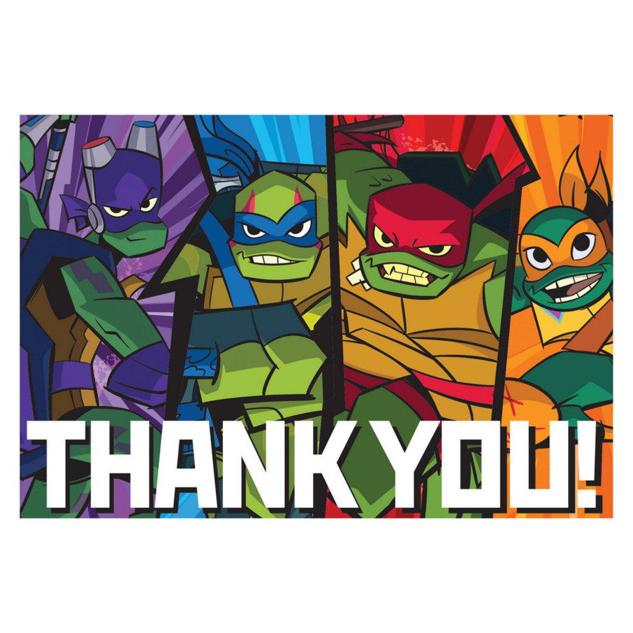 View larger image of Rise of the TMNT Thank You Cards (8)