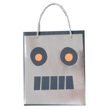 Robot Paper Favor Bags, 8ct