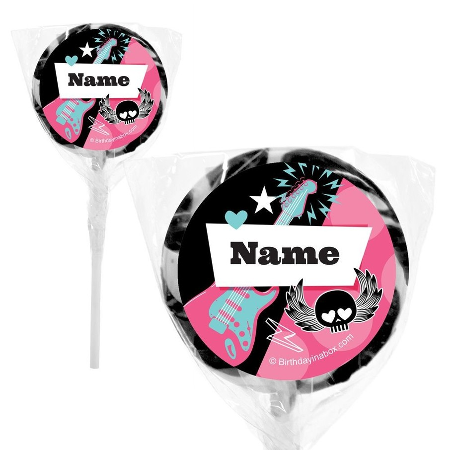"View larger image of Rock Star Girl Personalized 2"" Lollipops (20 Pack)"