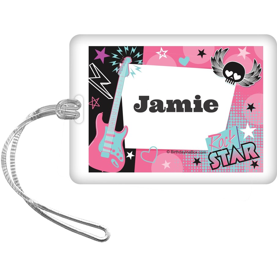 View larger image of Rock Star Girl Personalized Bag Tag (each)