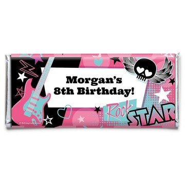 Rock Star Girl Personalized Candy Bar Wrapper (Each)