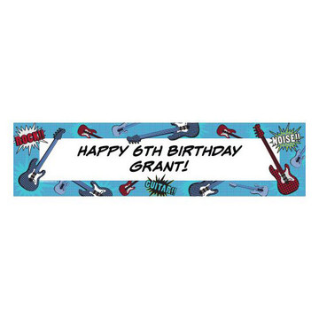 Rock Star Personalized Banner (each)