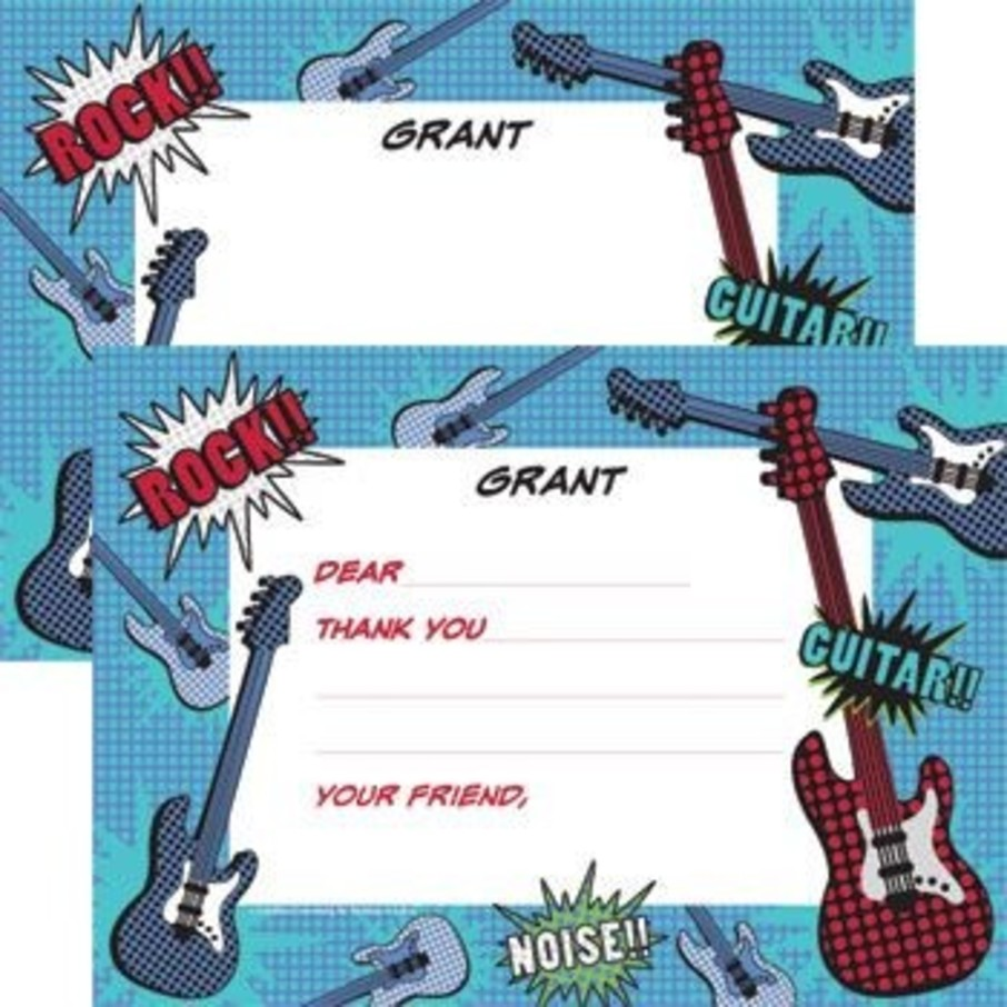 View larger image of Rock Star Personalized Thank You Note (each)