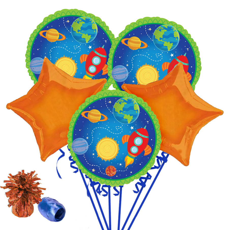 View larger image of Rocket to Space Balloon Bouquet Kit