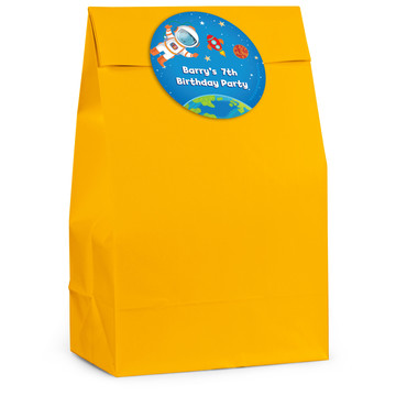 Rocket to Space Personalized Favor Bag (12 Pack)