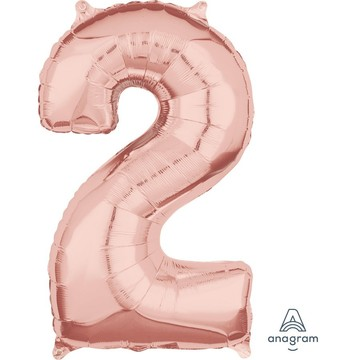 Rose Gold 26 Number Foil Balloon - 2