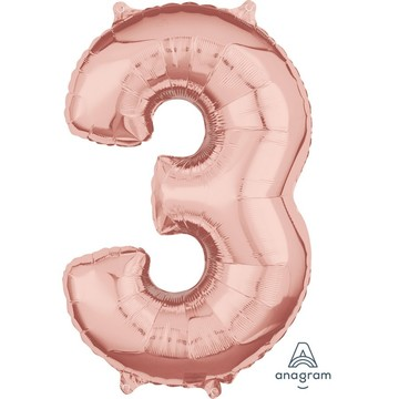 Rose Gold 26 Number Foil Balloon - 3