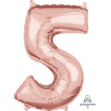 Rose Gold 26 Number Foil Balloon - 5