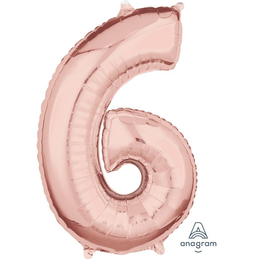 View larger image of Rose Gold 26 Number Foil Balloon - 6