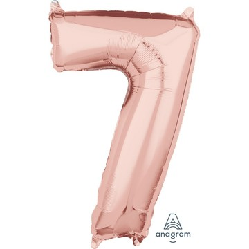 Rose Gold 26 Number Foil Balloon - 7