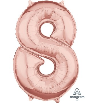 Rose Gold 26 Number Foil Balloon - 8