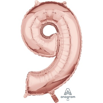 Rose Gold 26 Number Foil Balloon - 9