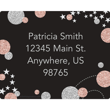 Rose Gold Celebration Personalized Address Labels (Sheet of 15)