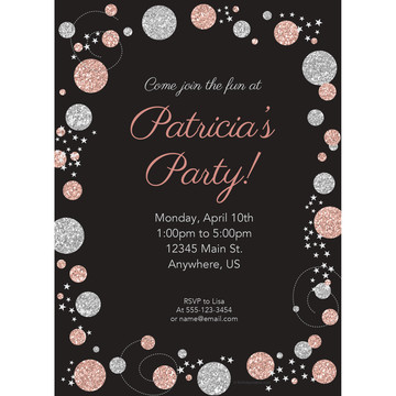 Rose Gold Celebration Personalized Invitation (Each)