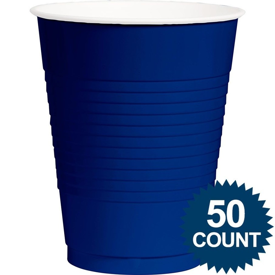 View larger image of Classic Blue Plastic 16oz Cups, 50ct