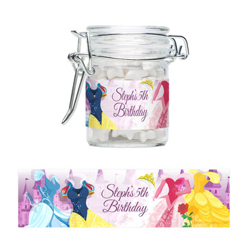 Royal Princess Personalized Swing Top Apothecary Jars (12 ct)