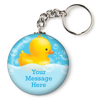 "Rubber Duck Personalized 2.25"" Key Chain (Each)"