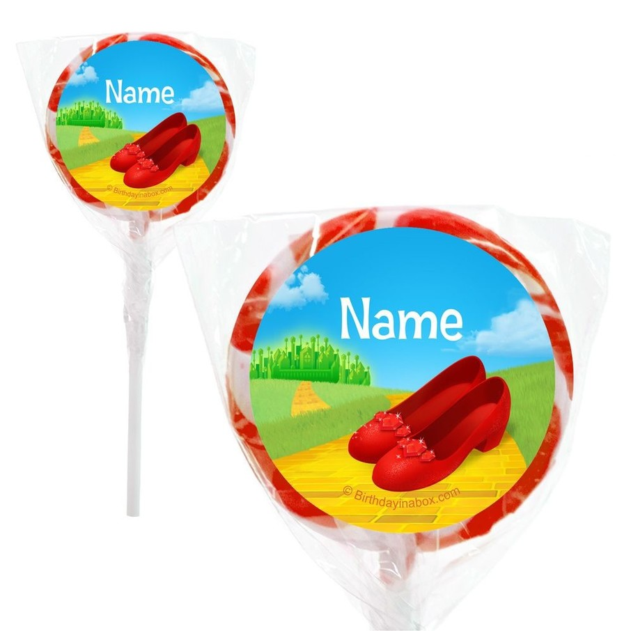 "View larger image of Ruby Slippers Personalized 2"" Lollipops (20 Pack)"