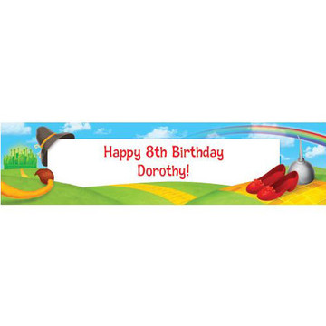 Ruby Slippers Personalized Banner (each)