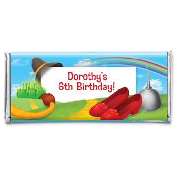 Ruby Slippers Personalized Candy Bar Wrapper (Each)