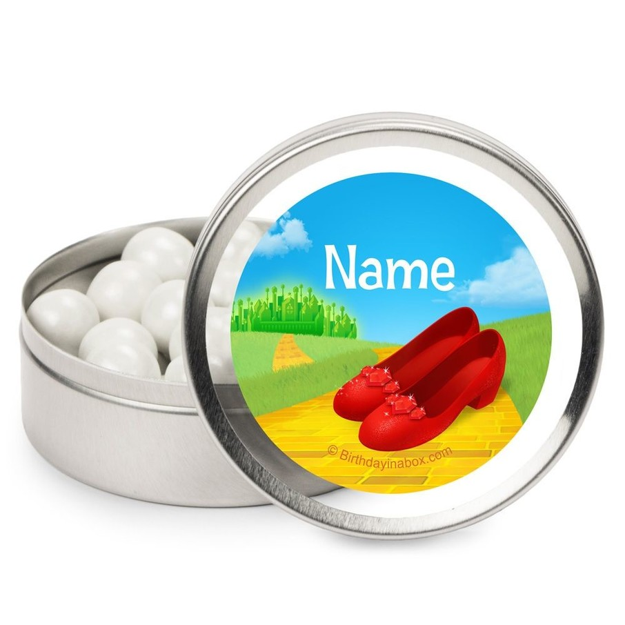 View larger image of Ruby Slippers Personalized Candy Tins (12 Pack)