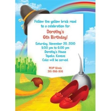 Ruby Slippers Personalized Invitation (each)