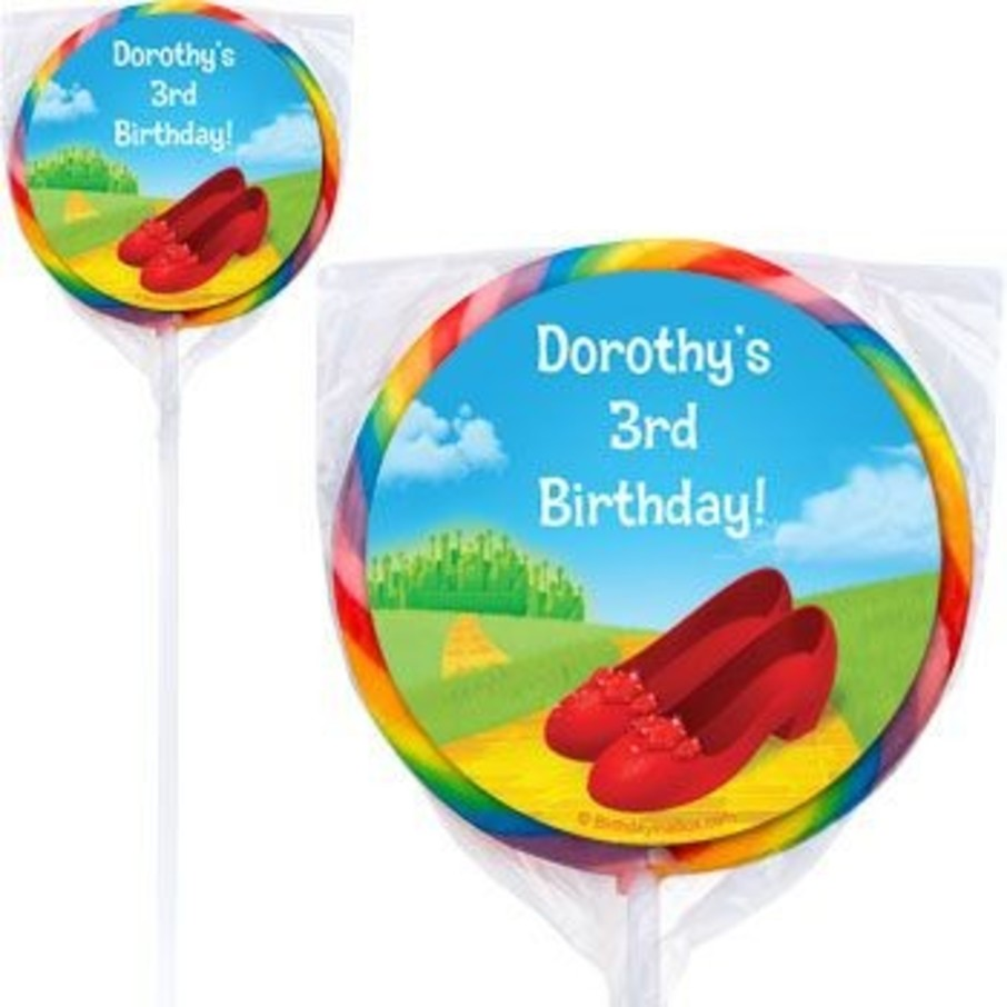 View larger image of Ruby Slippers Personalized Lollipops (pack of 12)