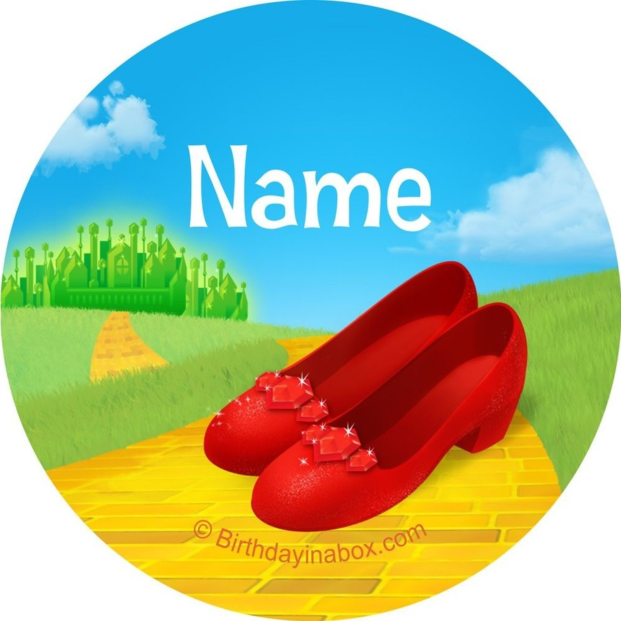 View larger image of Ruby Slippers Personalized Mini Stickers (Sheet of 24)