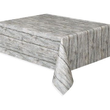 Rustic Wood Printed Table Cover (Each)