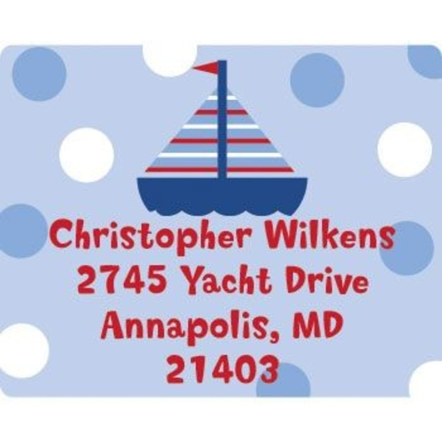View larger image of Sail Party Personalized Address Labels (sheet of 15)