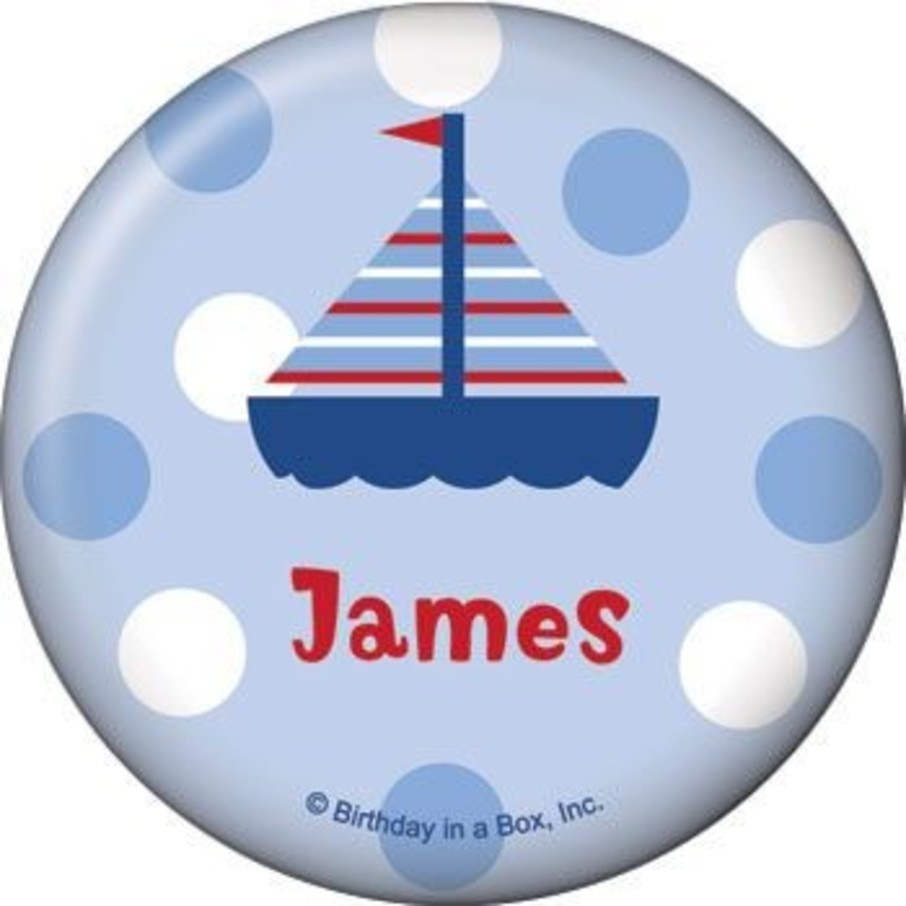 View larger image of Sail Party Personalized Button (each)