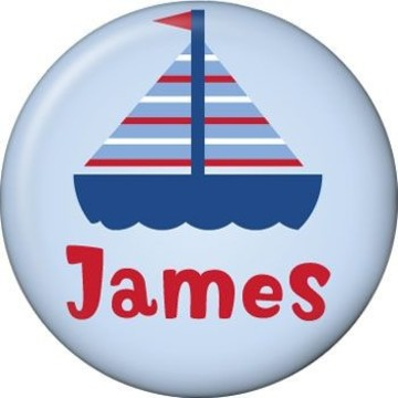 Sail Party Personalized Mini Button (each)