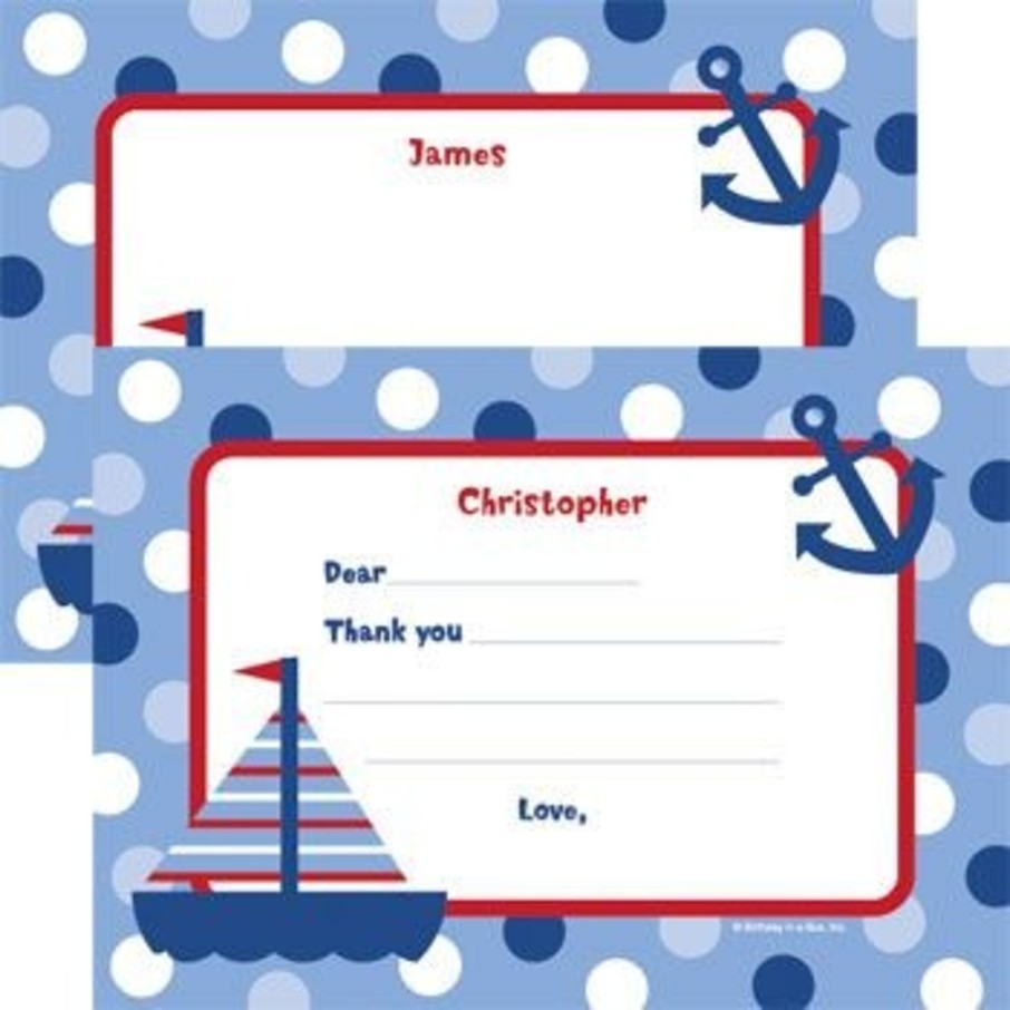 View larger image of Sail Party Personalized Thank You Note (each)