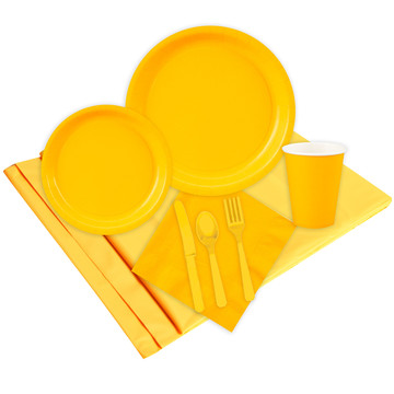 School Bus Yellow Party Pack